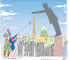 Cartoon: Statue of Saddam (small) by gungor tagged middle,eeast
