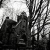 Cartoon: gothic hotel (small) by JP tagged mausoleum,gruft,tomb,crypt,vault,gothic,tot,tod,dead,death