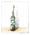 Cartoon: Ohne Titel (small) by Peter Bauer tagged buch,wein,humor,genuss,kultur