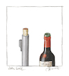 Cartoon: Zum Wohl (small) by Peter Bauer tagged buch,wein,kultur,genuss