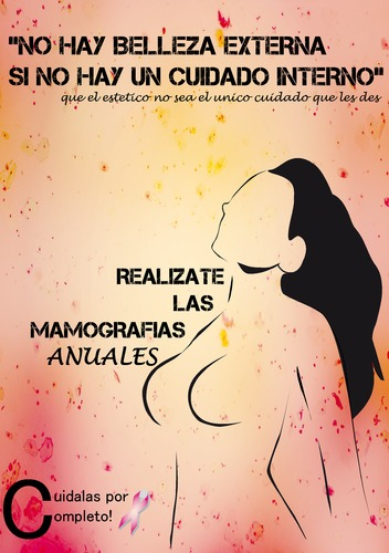 Cartoon: Afiche Cancer de mama (medium) by Error Post Mort tagged afiche,trabajo,cancer,mamas