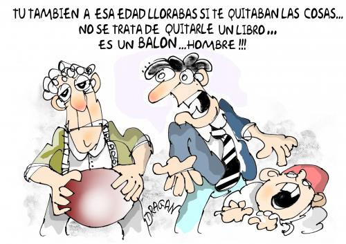 Cartoon: balon (medium) by Dragan tagged balon