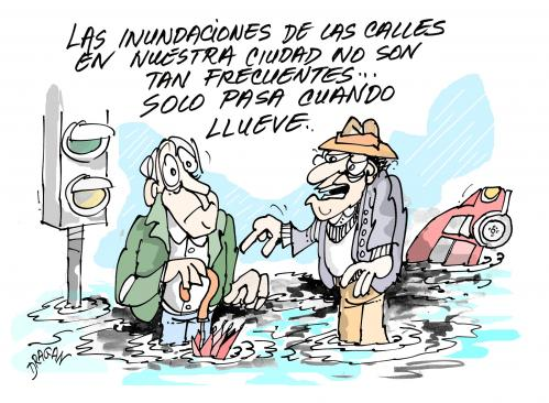 Cartoon: inundaciones (medium) by Dragan tagged inundaciones