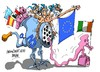 Cartoon: Irlanda-troika (small) by Dragan tagged irlanda,union,europea,rescate,troika,eurozona,ue,crisis,politics,cartoon