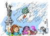 Cartoon: Nueva York-temporal de nieve (small) by Dragan tagged nueva,york,temporal,de,nieve