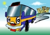 Cartoon: laughing bus (small) by johnxag tagged smiling,laughing,bus,car,funny