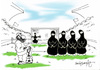 Cartoon: football from middleeast (small) by denizdokgoz tagged black chador football futbol