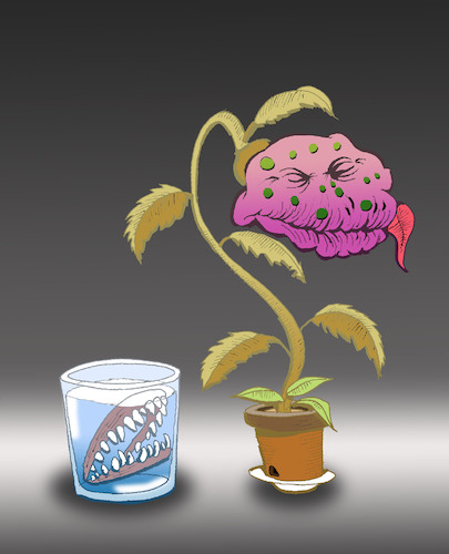 Cartoon: Cannibal Plant... (medium) by berk-olgun tagged cannibal,plant