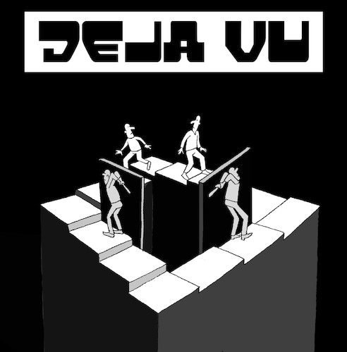 Cartoon: Deja Vu... (medium) by berk-olgun tagged deja,vu