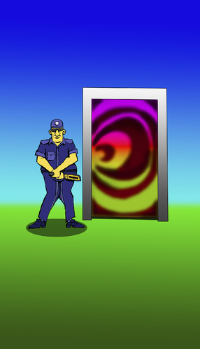 Cartoon: Dimension Door... (medium) by berk-olgun tagged dimension,door