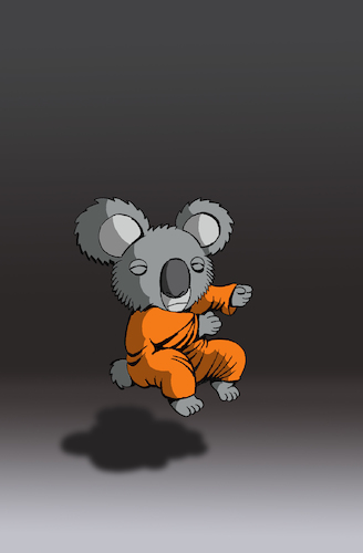 Cartoon: Koala in Nirvana... (medium) by berk-olgun tagged koala,in,nirvana