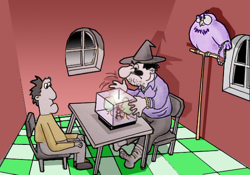 Cartoon: Macho magician.. (medium) by berk-olgun tagged macho,magician