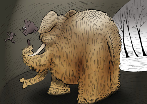 Cartoon: MAMMOTH... (medium) by berk-olgun tagged mammoth