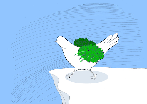 Cartoon: Olive Branch Wing... (medium) by berk-olgun tagged olive,branch,wing