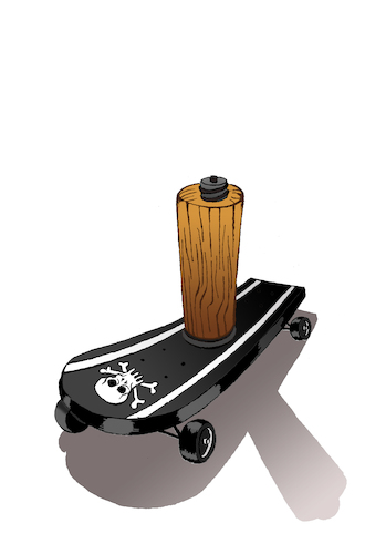 Cartoon: Pirate Skateboard... (medium) by berk-olgun tagged pirate,skateboard