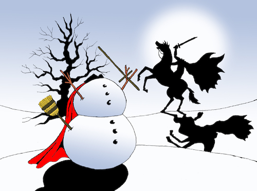 Cartoon: Snowman... (medium) by berk-olgun tagged snowman