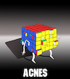 Cartoon: Acnes... (small) by berk-olgun tagged acnes