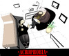 Cartoon: ACROPHOBIA... (small) by berk-olgun tagged acrophobia
