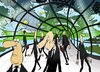 Cartoon: Aquarium... (small) by berk-olgun tagged aquarium