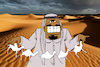 Cartoon: Arabian Game... (small) by berk-olgun tagged arabian,game