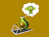 Cartoon: Avocado Dream... (small) by berk-olgun tagged avocado,dream