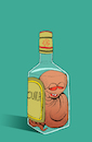 Cartoon: Bottoms Up... (small) by berk-olgun tagged tequila