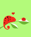 Cartoon: Chameleon in Love... (small) by berk-olgun tagged chameleon,in,love