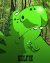 Cartoon: Dinosaur Selfie... (small) by berk-olgun tagged dinosaur,selfie