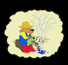 Cartoon: Gardener... (small) by berk-olgun tagged gardener