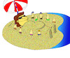 Cartoon: Gulliver Vacation... (small) by berk-olgun tagged gulliver,vacation