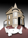 Cartoon: Haunted House... (small) by berk-olgun tagged haunted,house