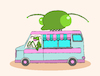 Cartoon: Mantis Van... (small) by berk-olgun tagged mantis,van
