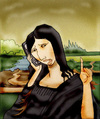 Cartoon: Mona Lisa 2011.. (small) by berk-olgun tagged mona,lisa,2011