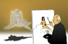 Cartoon: Muse... (small) by berk-olgun tagged muse