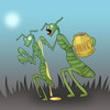 Cartoon: Praying Mantis s  Phantasy.. (small) by berk-olgun tagged praying mantis