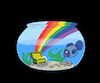 Cartoon: Rainbow Treasure... (small) by berk-olgun tagged rainbow,treasure