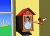 Cartoon: Rooster Clock... (small) by berk-olgun tagged rooster,clock