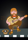 Cartoon: Street Singer... (small) by berk-olgun tagged street,singer