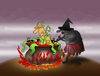 Cartoon: The Cannibal Witch... (small) by berk-olgun tagged the,cannibal,witch