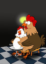 Cartoon: The Ghost Rooster... (small) by berk-olgun tagged the,ghost,rooster