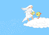Cartoon: The Snow God... (small) by berk-olgun tagged the,snow,god