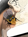 Cartoon: Vincent van Fly... (small) by berk-olgun tagged vincent,van,fly