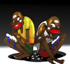 Cartoon: Voodoo Brothers... (small) by berk-olgun tagged voodoo,brothers
