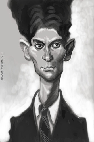 Cartoon: KAFKA (medium) by Marian Avramescu tagged mmmmmmmmmmmmmm
