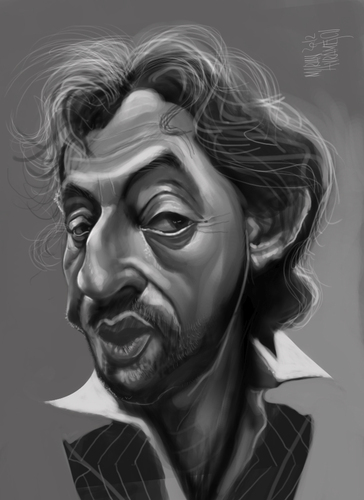 Cartoon: Serge Gainsbourg (medium) by Marian Avramescu tagged mmmmmmm