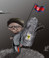 Cartoon: Bye (small) by Marian Avramescu tagged mmmmmmmmmmmmmmm