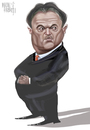 Cartoon: VASILE  BLAGA (small) by Marian Avramescu tagged mmmmmmmmmmmm