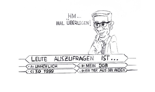 Cartoon: Jauchs schwerste Frage (medium) by Glenn M Bülow tagged jauch,werwirdmillionär,quiz,multiplechoice,rtl,quizmaster