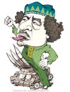 Cartoon: Gadaffi (small) by Anja Nolte tagged gadaffi,war,weapons