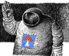 Cartoon: Apollo (small) by Wiejacki tagged cosmos,science,astronaut,sf